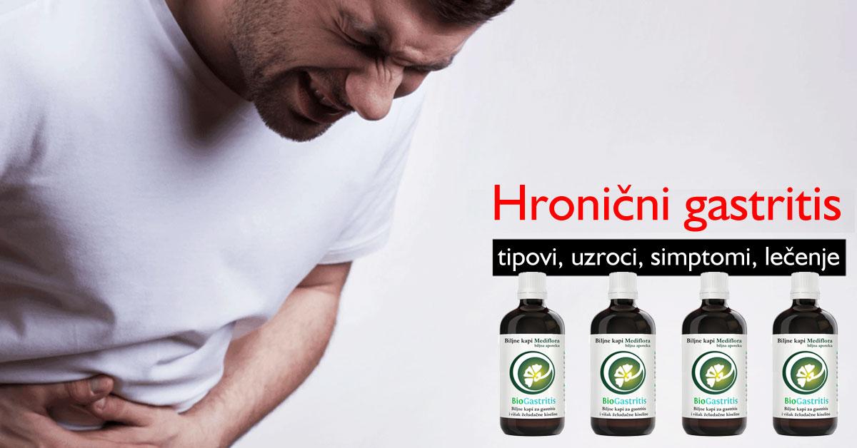 Hronični gastritis - tipovi, uzroci, simptomi, lečenje