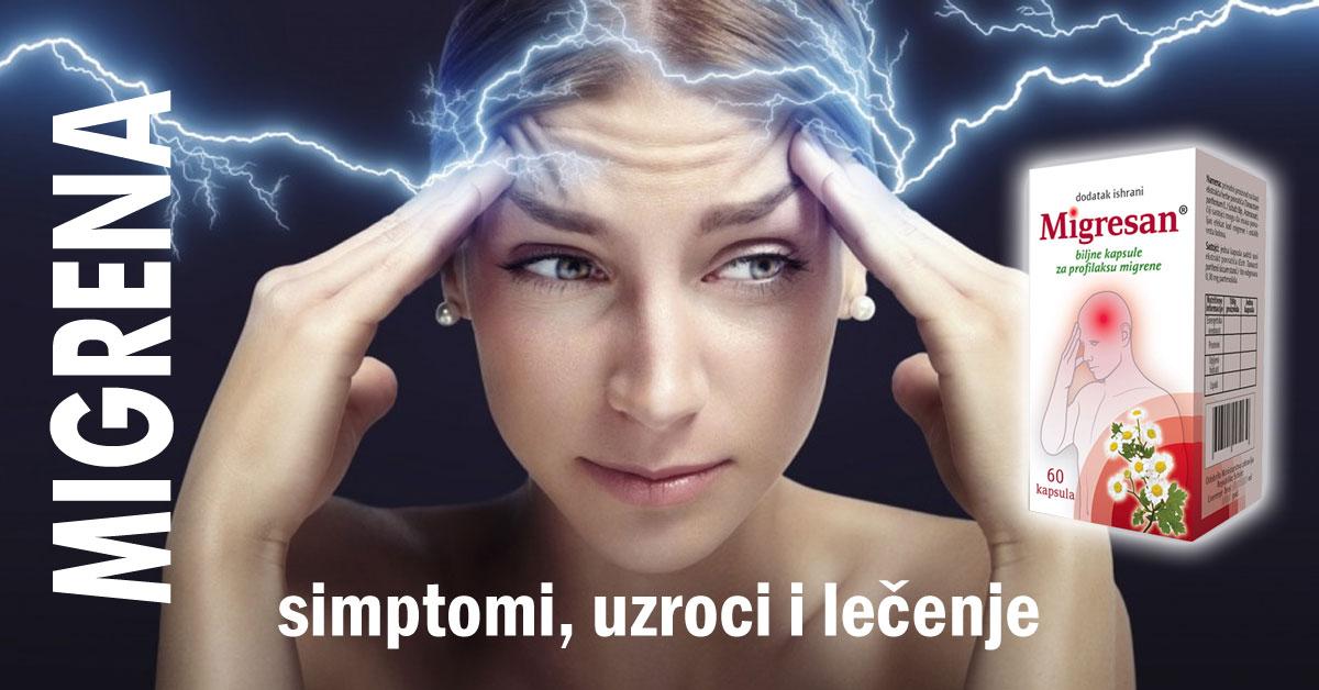 Migrena - simptomi, uzroci i lečenje