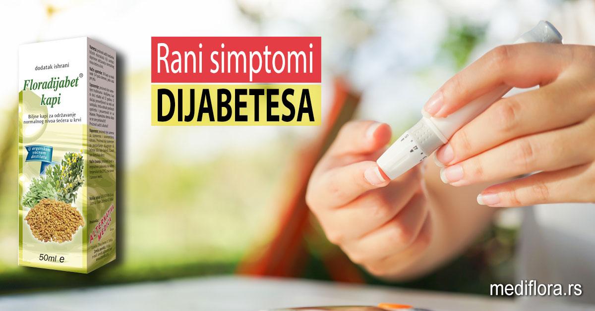 Rani simptomi dijabetesa