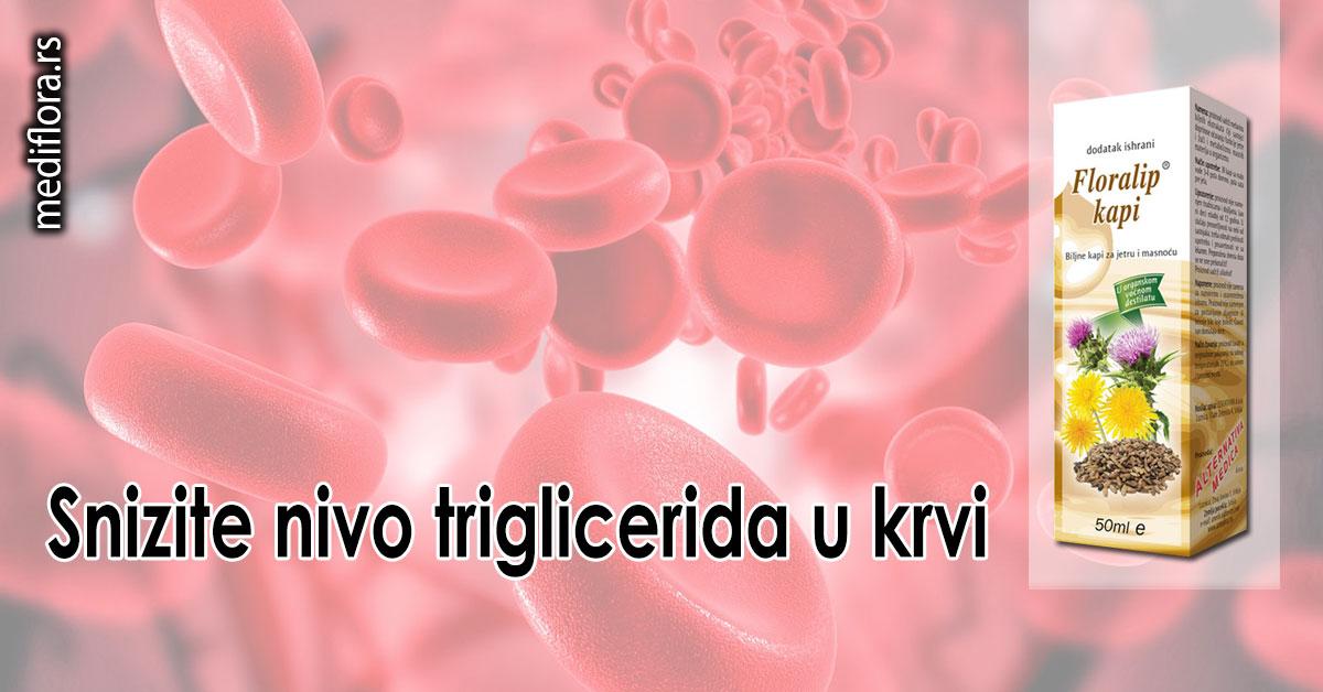 Snizite nivo triglicerida u krvi