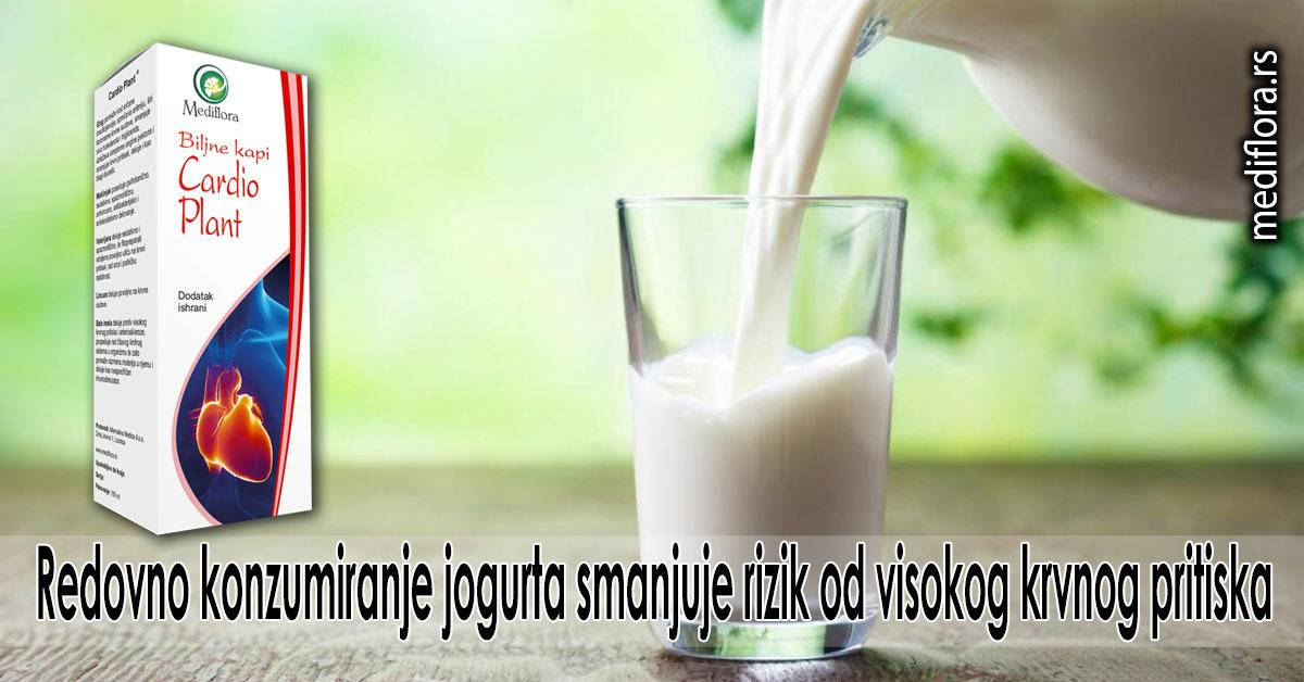 Redovno konzumiranje jogurta smanjuje rizik od visokog krvnog pritiska